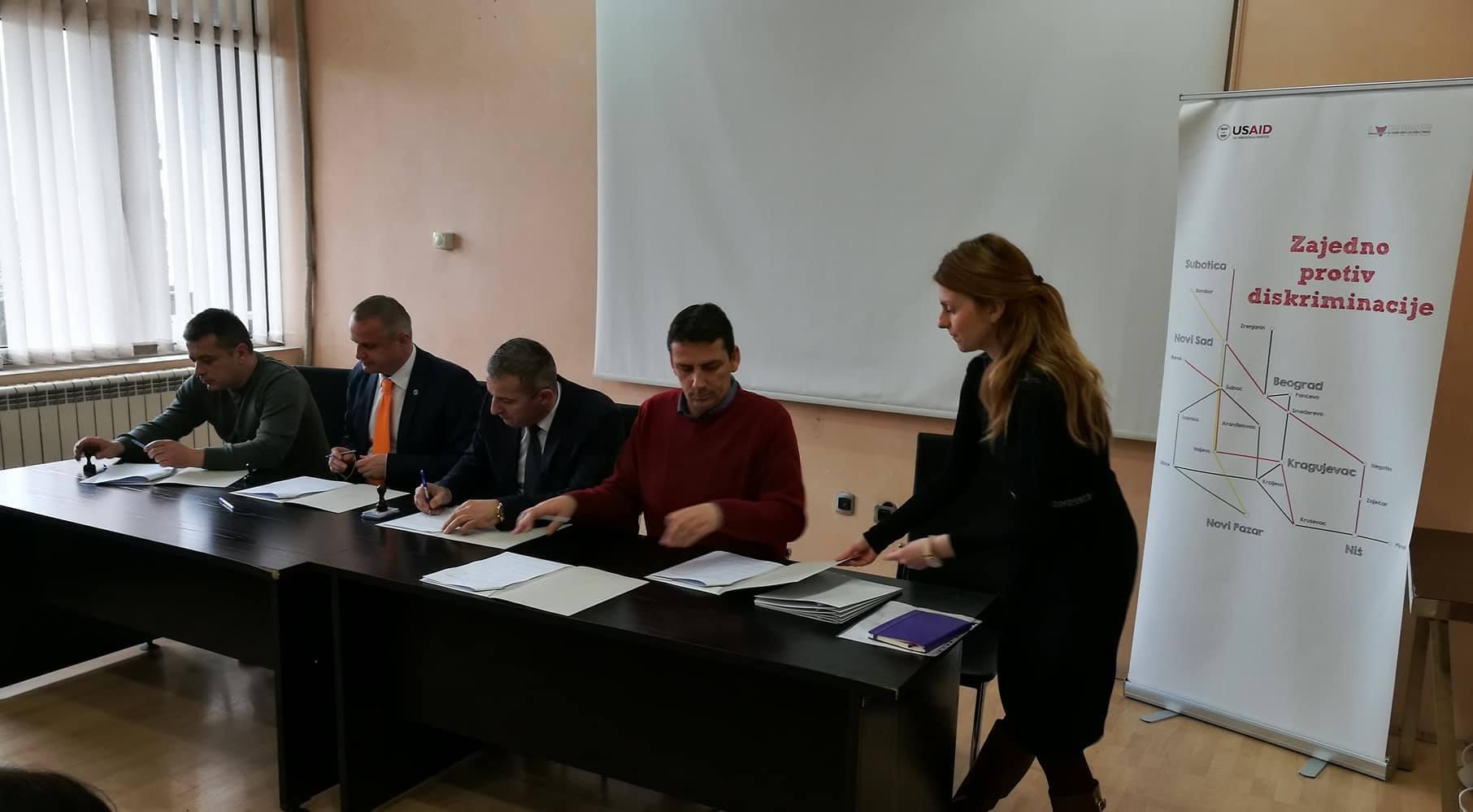 Potpisivanje Memoranduma o saradnji Lokalna mreža Novi Pazar